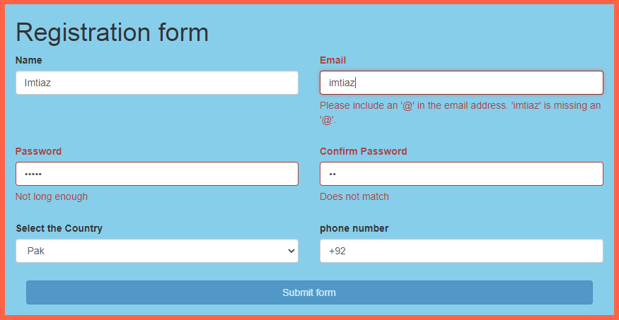 How to Validate Your Web and HTML Form Using Bootstrap Validator
