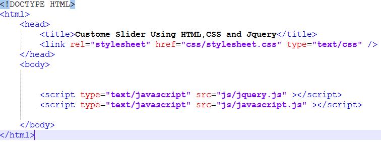 slider html structure