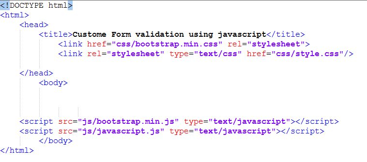 html form setup